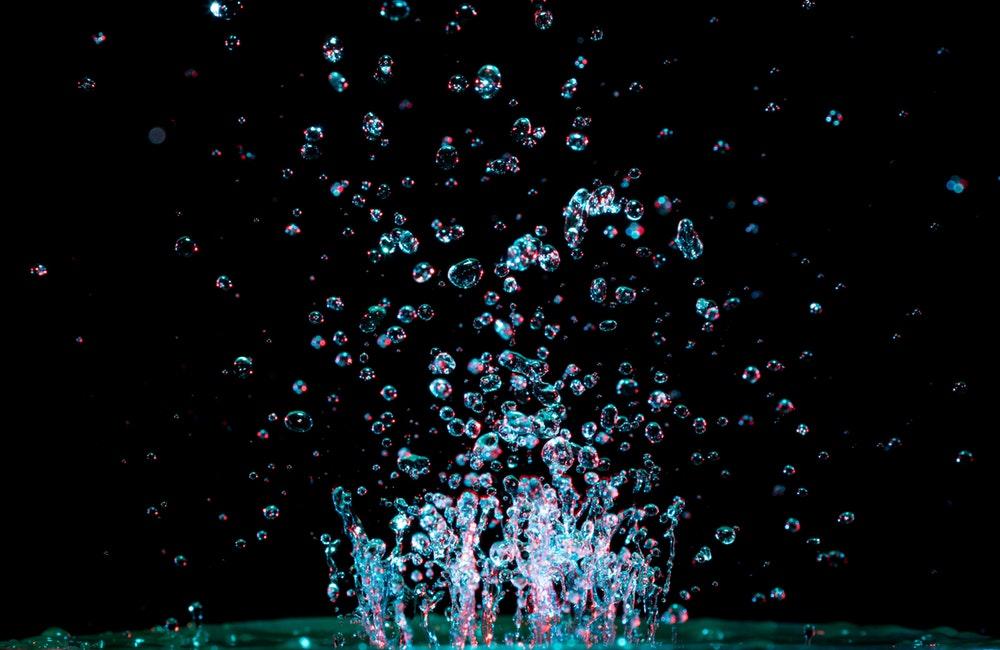 sprinkled water